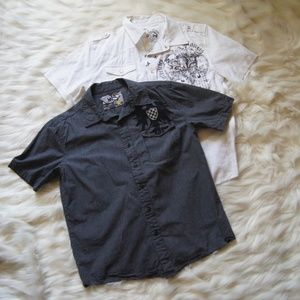 Boys NSS Pearl Snap Buttons Skate Shirt Size XL 14